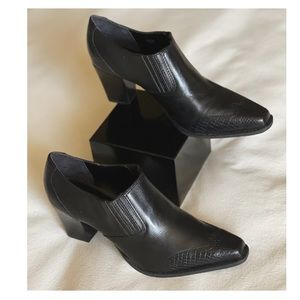 Coldwater Creek Claudia Western Ankle Boots Blk 10
